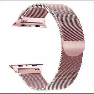 Compatible Apple Watch band - Rose Gold